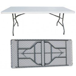 Table pliante rectangulaire.