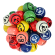 Jeu de 90 balles Air Ball Multicolores 2 faces