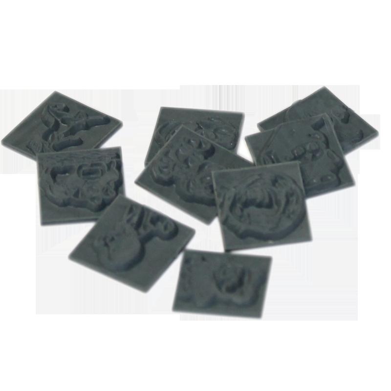 Jeux de 9 symboles caoutchouc