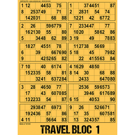 14 Travel Bloc x12