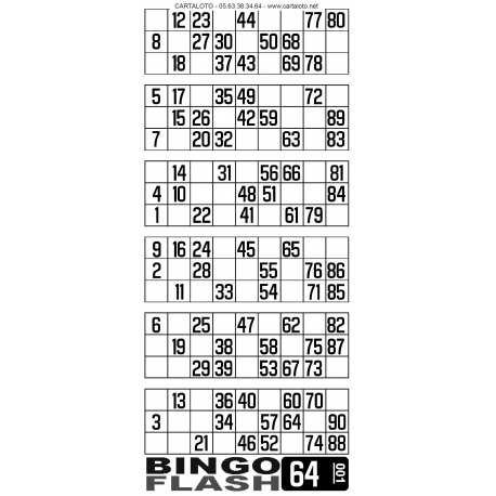 Bloc Bingo flash