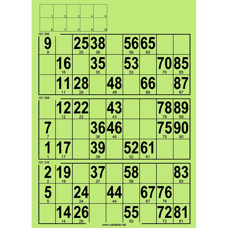 167 planches de 3 grilles à tamponner