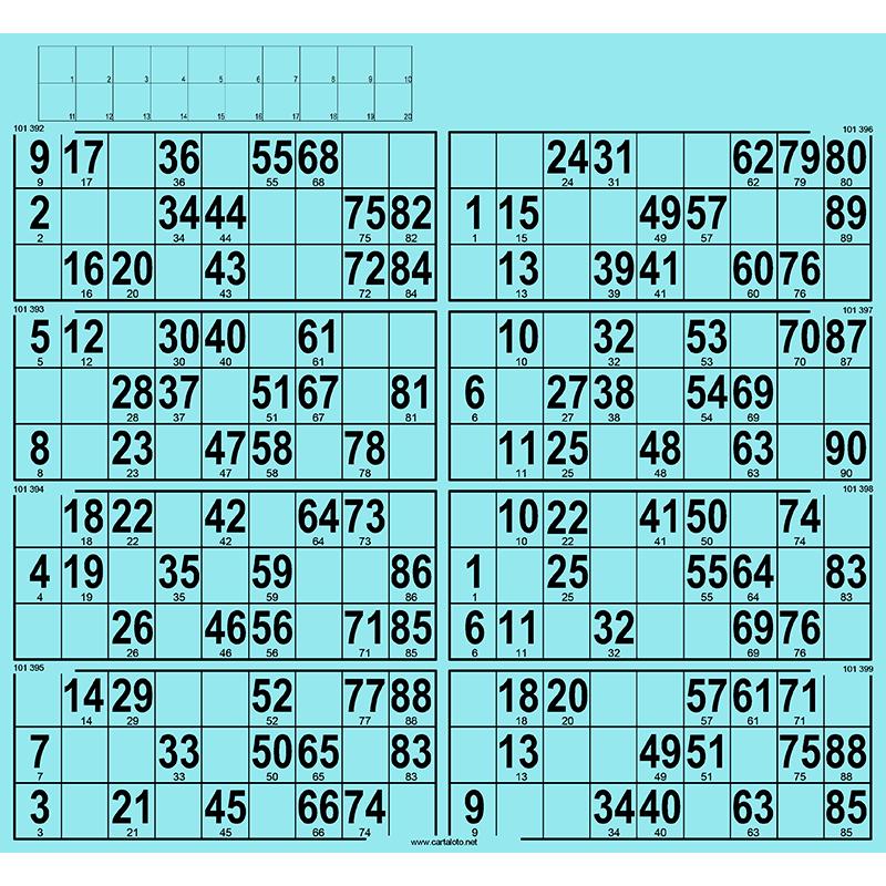 63 planches de 8 grilles à tamponner