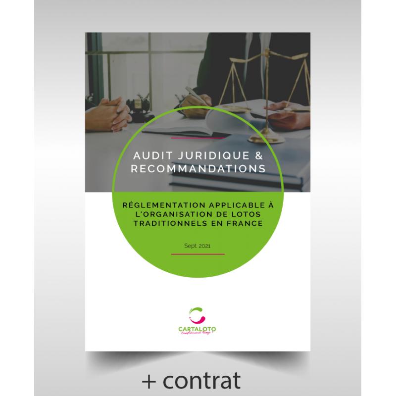 Pack juridique : découvrez l'audit juridique + les recommandations + le contrat réalisé par notre cabinet d'avocats !