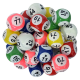 Jeu de 90 balles Air Ball Multicolores 6 faces