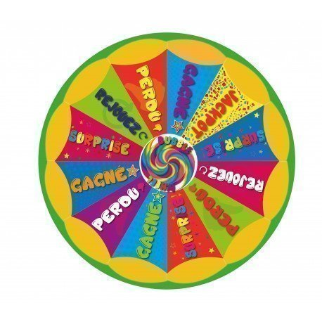 "Roue de loterie standard ""Bubble Wheel"" 120 CM"