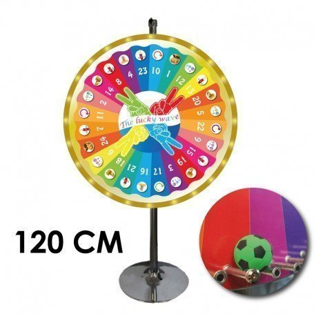 "Roue de loterie THE LUCKY WAVE"" balle 120 CM X25"