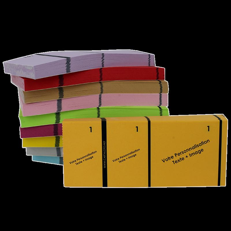 10 Carnets à 3 Parties (Personnalisés)