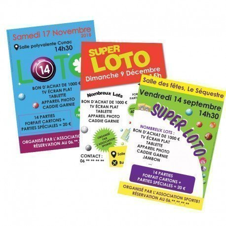 Affiches & Flyers loto