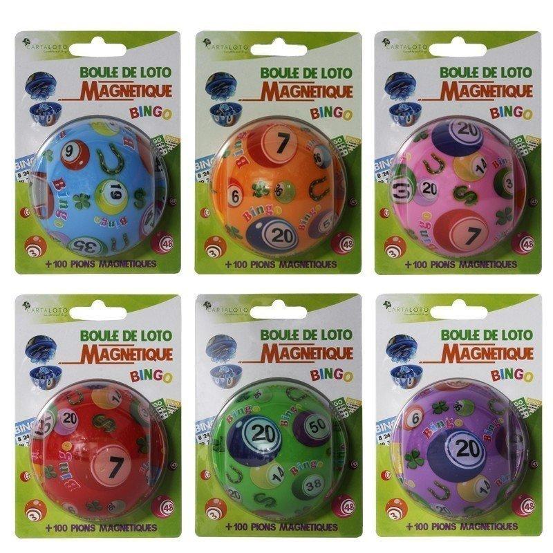 5 Boules de loto magnétiques personnalisés
