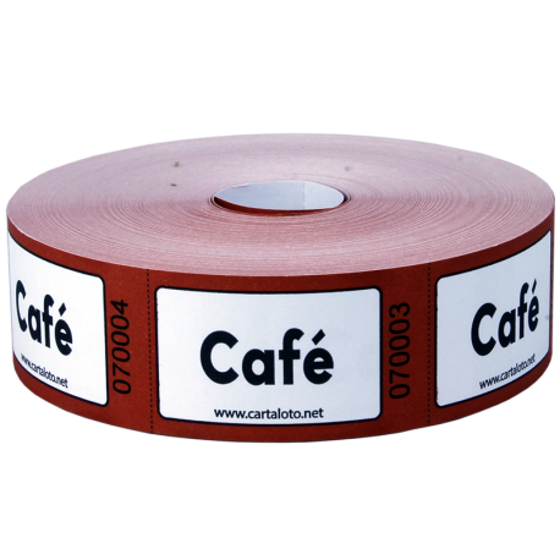 """Rouleaux de 1000 tickets """"Café"""""""
