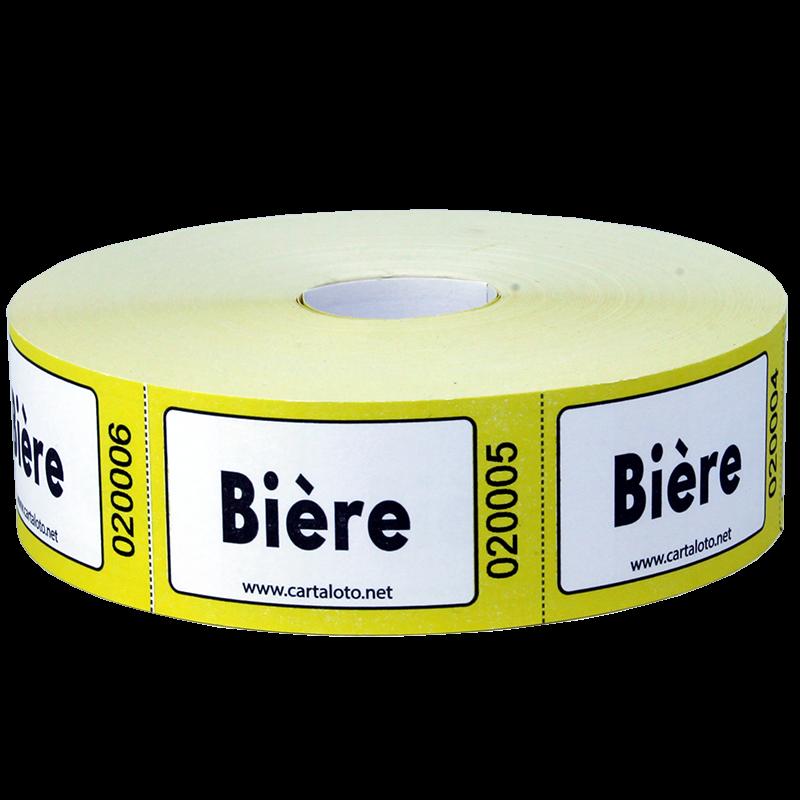 """Rouleaux de 1000 tickets """"Bière"""""""