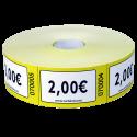Rouleaux de 1000 tickets Valeurs €