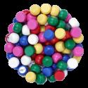 90 boules de loto à fond plat Ø 22mm