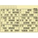 84 planches de 6 grilles à tamponner