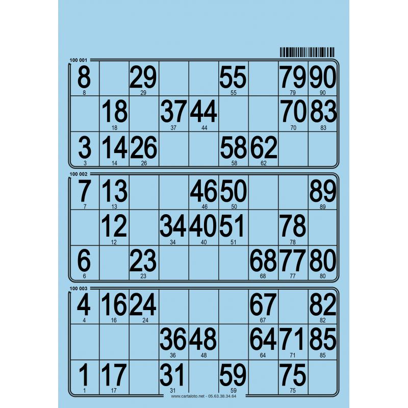 167 Planches de 3 grilles
