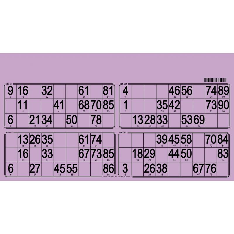 125 Planches de 4 grilles