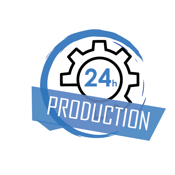 Délais de production de 24h