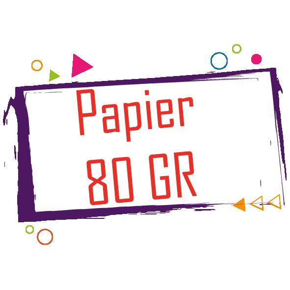 Support Papier 80gr